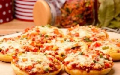 Mini Cheese and Tomato Pizzas