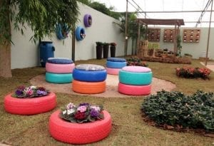 Gardening with Tyres - Recyclable Gardening