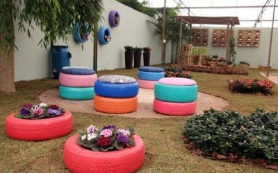 Recyclable Gardening With Tyres