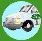 dan the gardeners pickup truck