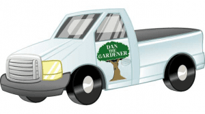 Dan the gardeners van