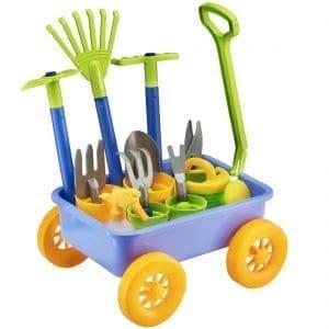 Pull along Kids Wagon Wheelbarrow and Gardening Tools