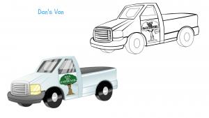 Dan the Gardeners van