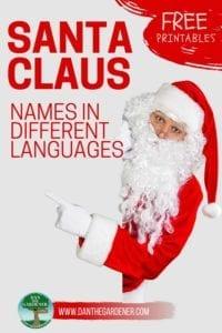Santa Claus names in different languages