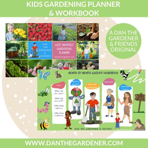 Kids gardening planner